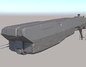 battleship SpaceShip 3D model
