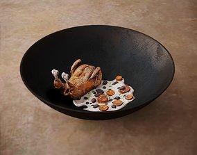 3D model Chicken with Cream Sauce