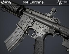 3D model low-poly M4 Carbine