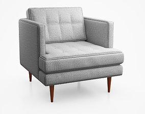 Peggy Mid Century Armchair by West Elm 3D