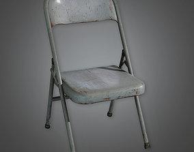 3D model TLS - Folding Metal Chair - PBR Game Ready