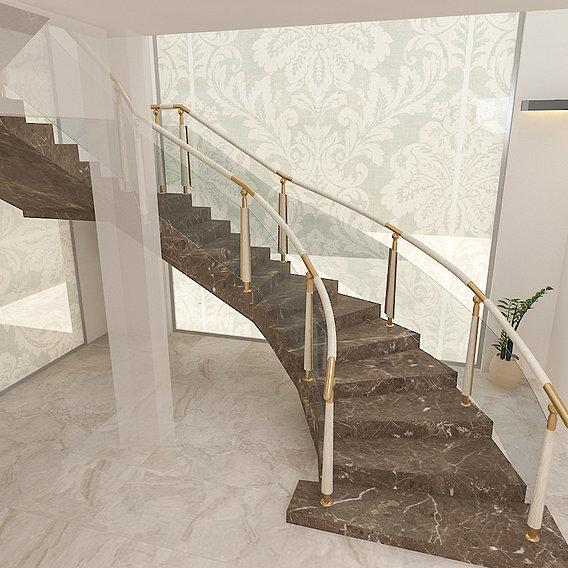 stair case in villa