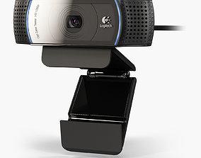 Logitech HD Pro Webcam C920 3D asset animated