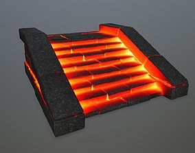 3D model lava stair