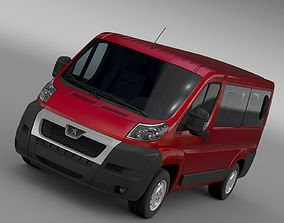 3D Peugeot Boxer Window Van L1H1 2006-2014