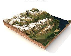 3D asset game-ready Mountain landscape