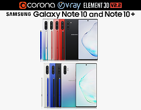 3D Samsung Galaxy Note 10 and Note 10 Plus All colors