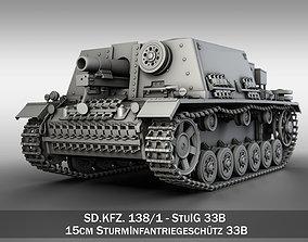 Self-propelled heavy Infantry Gun 15cm StuIG 33B 3D