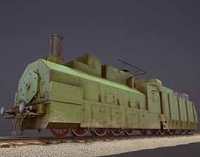 Armored Train PR-35 Locomotive 3D asset