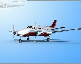 Falcon3D E90 King Air F07 rigged