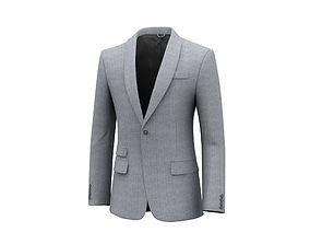 3D Single Button Suit