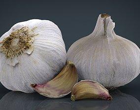 Garlic and garlic clove 3D