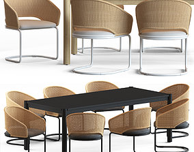 Globewest Weaver Cantilever Chair and Linea Oslo 3D model