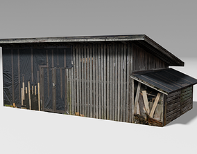Wooden Shed 3D asset