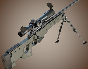 3D model Accuracy International L96A1 sniper rifle