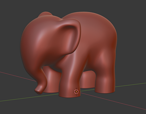sculpture elephant for 3D printing