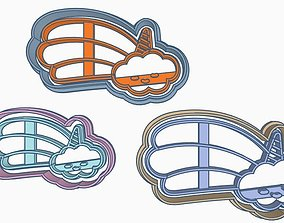 3D print model Cloud Cookie Cutter Set cortante