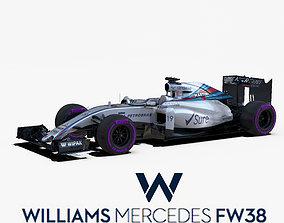 Williams FW38 car 3D asset
