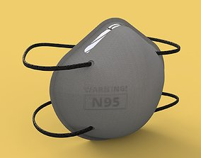 3M N95 Disposable Respirator Mask 3D asset