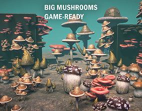 3D model Big mushrooms