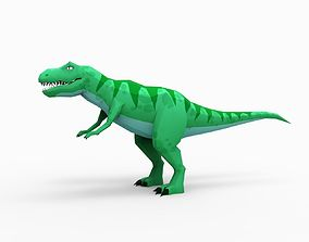 3D asset T-Rex Green - low-poly