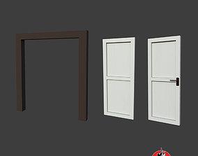 3D model VR / AR ready Doors With Door Frame