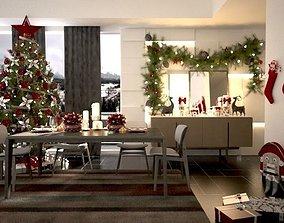 3D printable model christmas dining room