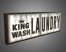 3D model Laundry Sign Big - PBR Game Ready