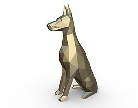 3dprint doberman figure 3D printable model