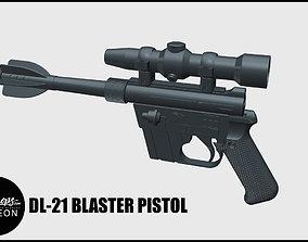DL-21 Rebel and Dengar Blaster 3D print model