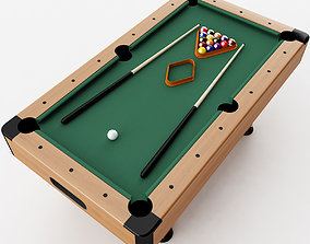 Pool Table 3D model photorealistic