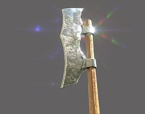 3D model Realistic Low Poly Medieval Axe
