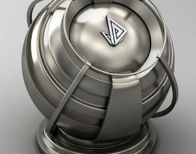 VRAY SHADER---METAL---Titanium 3D model