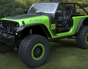 3D asset game-ready jeep wrangler trailcat 2017