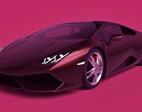 3D model Lamborghini Huracan sportcar