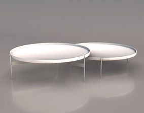 Abaco Modern Round Cocktail Table 3D