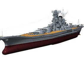 3D model Battleship YAMATO 1945 version