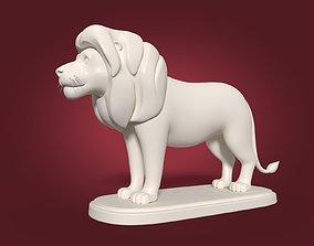 3D Cartoon Lion Statue
