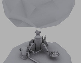 Asteroid mining colony 3D