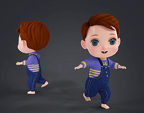 3D asset Cartoon Boy Full Rigged