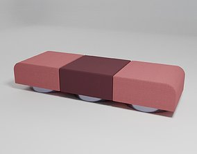 3D model ROLL - Sofa without backrest -