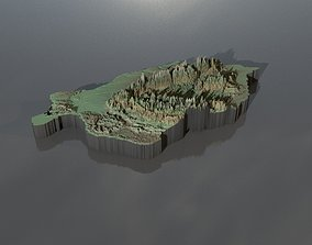 3D High-resolution heightmaps and geometry for Romania