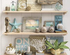 coral Decorative set 1 3D