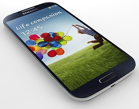 3D SAMSUNG Galaxy S4 Black