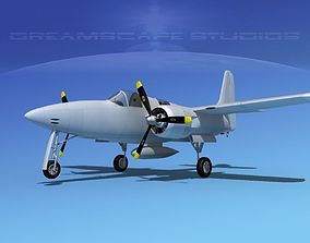 Grumman F7F Tigercat Bare Metal 3D