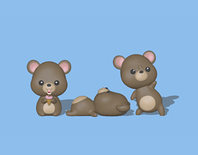 3D printable model Cute Bears