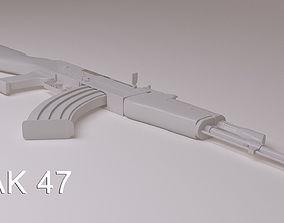 3D model Ak 47 weapon
