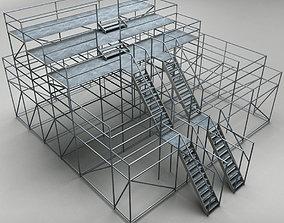 Industrial scaffolding 3D model