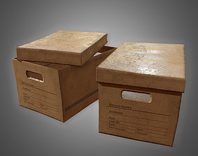 3D model realtime Cardboard Boxes Set 3 - PBR Game Ready