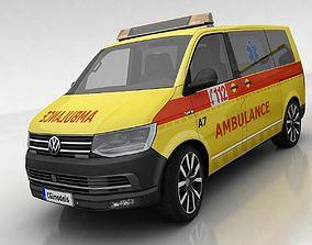 3D asset Volkswagen T6 ambulance